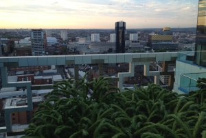 View from Marco Pierre White's at The Cube Birmingham