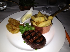 Fillet steak at Marco Pierre Whites Birmingham
