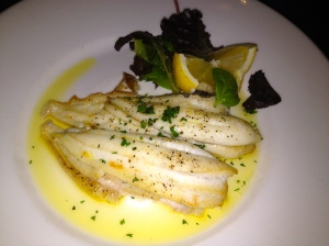 Lovely Lemon Sole at Anderson's Bar and Grill