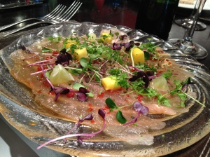 Tuna Carpaccio at Mal Maison Brasserie Birmingham
