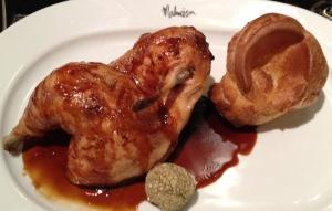 Roast Chicken at the Mal Maison Birmingham Brasserie