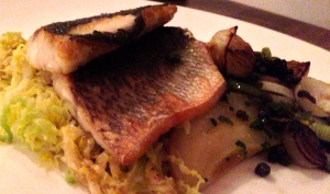 Sea Bass at Purnell's Bistro Birmingham