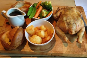 Roast Chicken at Stirlings Bar