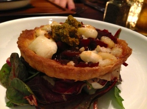 Beetroot Tart at The Lost & Found