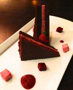 Chocolate Torte and Raspberry Three Ways at Aalto Hotel La Tour