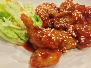 Korean Spiced Fried Chicken at Topokki Birmingham