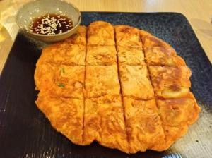 Kimchi Pancake at Topokki Korean Birmingham