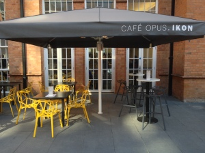 Cafe Opus Outside with heaters