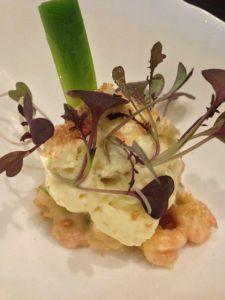 Adam's Restaurant Birmingham Brown Shrimp Leeks Red Mustard