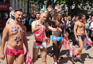 Aussie Bum Naked Men Birmingham Pride 2013