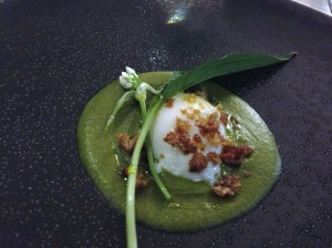 Poached Egg, Wild Garlic, Smoked Breadcrumbs at Carter's Of Moseley Out In Brum