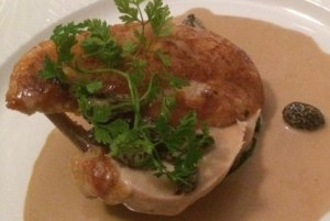 Out In Brum - Waters On The Square - Chicken with Morel Sauce