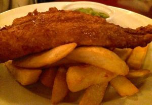 Out In Brum - Edmunds Lounge - Fish and Chips