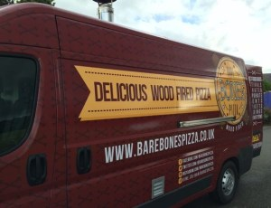 Out In Brum - Bare Bones Pizza -  Van