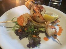 Out In Brum - Le Monde Bar Grill Brindley Place Birmingham - Scallop Prawns