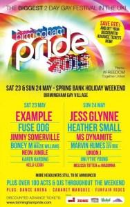 Birmingham Pride 2015 Main Stage