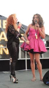 Out In Brum - Pride 2015 - Cabaret Tent - Kelly Wilde and Sandra