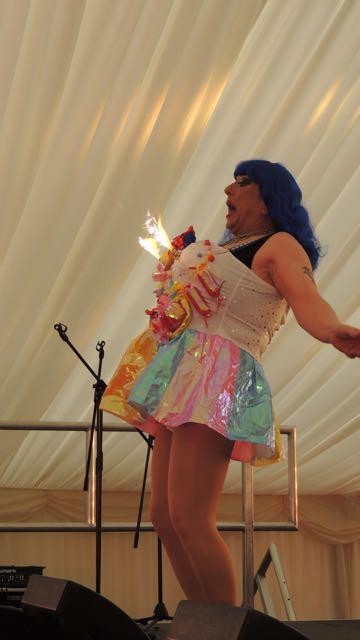 Out In Brum - Pride 2015 - Cabaret Tent - Pam Catz Fireworks