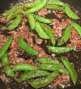 Out In Brum - Garlic Sugar Snap Peas