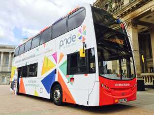 Out In Brum - Pride 2016 National Express Bus - Photo Courtesy of Clive Reeves PR - 02