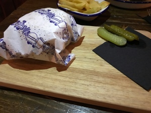 Out In Brum - The Loft - Wrapped Burger
