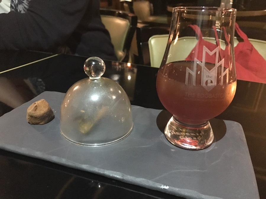 Out In Brum - The Edgbaston - Cocktail with Cloche Smoke