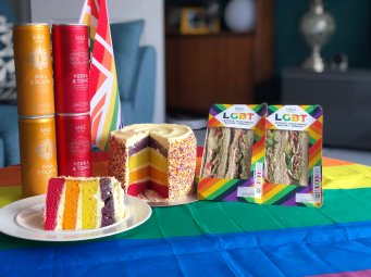 Out In Brum - M&S Pride Rainbow Cake and LGBT Sandwiches