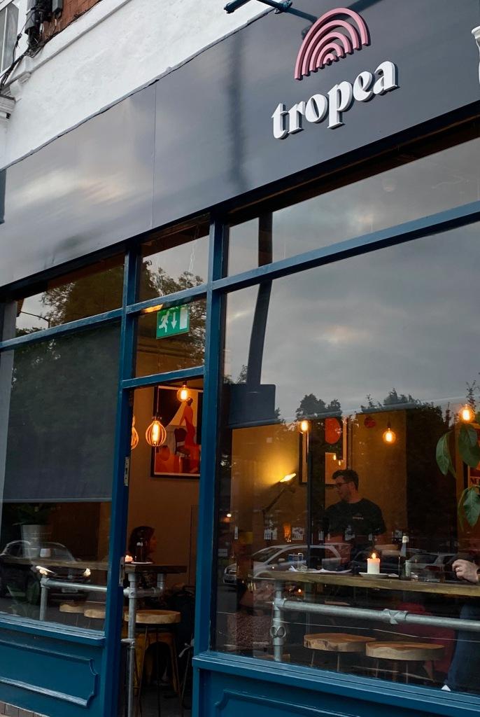 Frontage of restaurant Tropea
